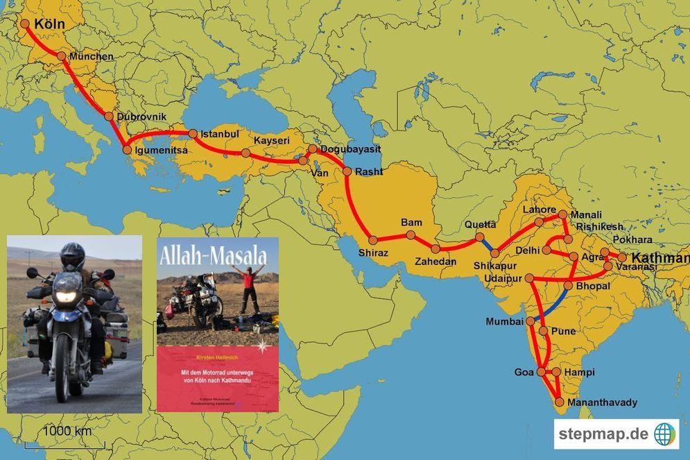Kayseri Map%0A Kirsten Hellmichs Buch und Route